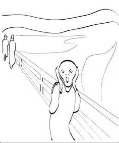 coloring pages on pinterest coloring pages the scream