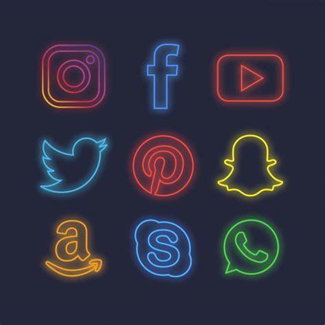 Imagenes De Redes Sociales Tumblr | paquete de iconos de redes sociales con efecto de luz