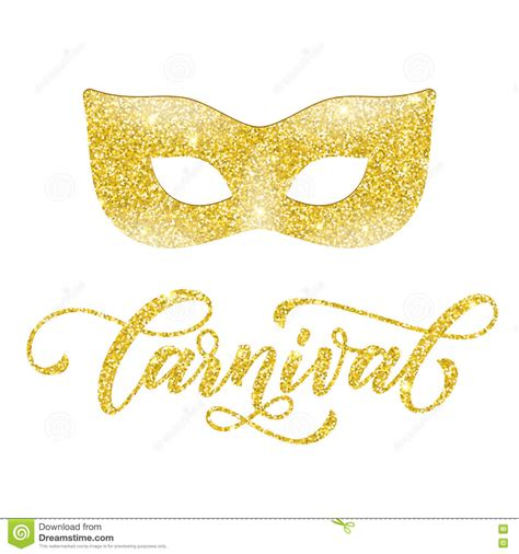 Masker Gold golden mask of gold glitter mardi gras venetian masquerade vector cartoondealer