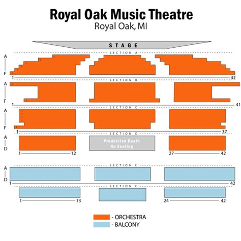 theatre royal seating chart iron and wine april 14 tickets royal oak royal oak