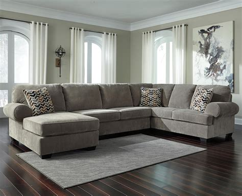 ashley corduroy sectional signature design by ashley jinllingsly contemporary 3