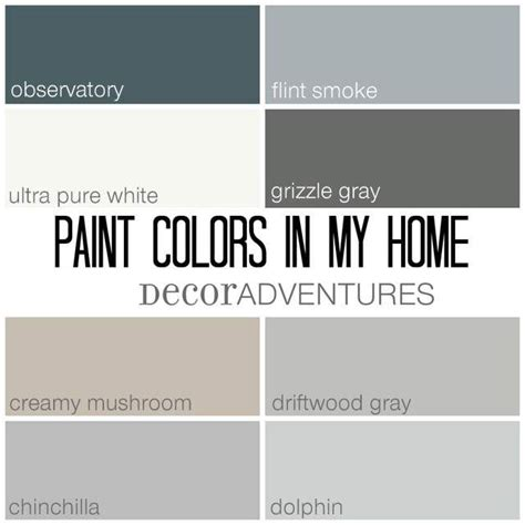 paint colors in my home free printable mushrooms behr and driftwood