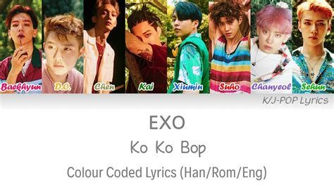 exo kokobop lyrics exo 엑소 ko ko bop colour coded lyrics han rom eng