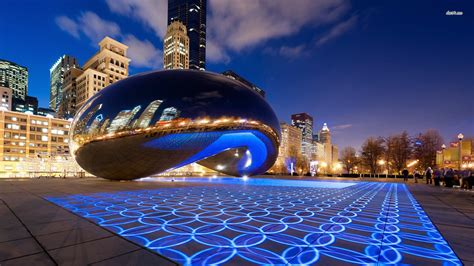 chicago skyline winter wallpaper desktop wallpapersafari