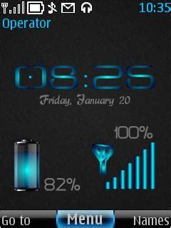 themes nokia 6300 battery clock download toxic battery nokia theme mobile toones