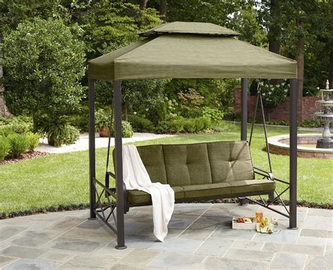Swing Chair Patio Patio Swing Canopy Replacement Person Patio Swing With Canopy Modern Hanging Swing Chair Black