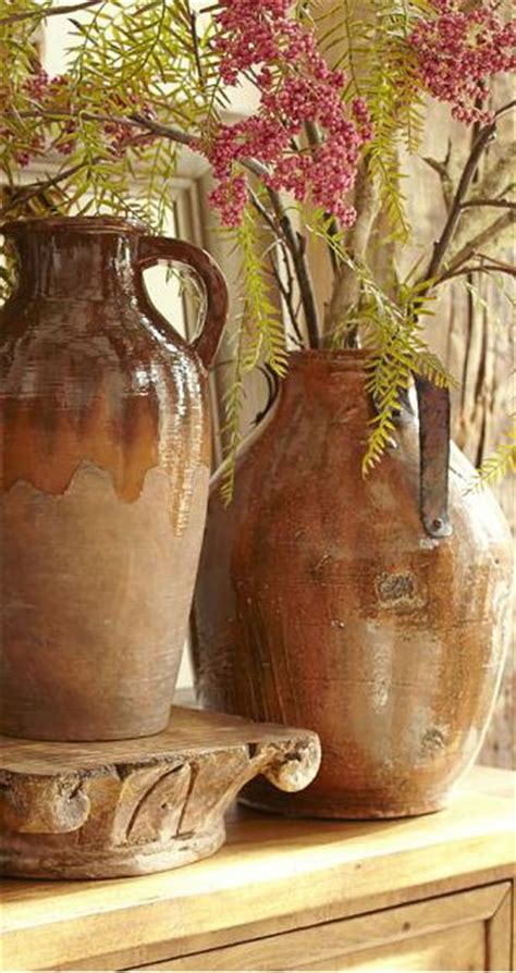 rustic pottery rustic home decor