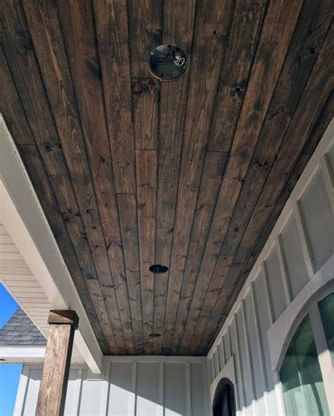 Wood Plank Ceiling Outdoor