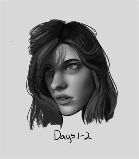 daily painting challenge daily painting 1 portrait challenge by seafoamsnail on