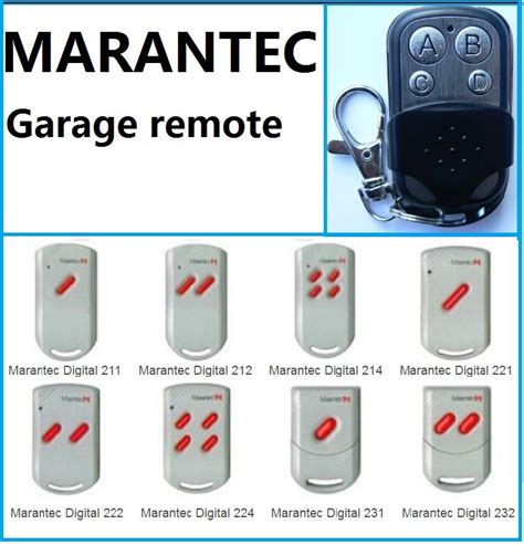 Marantec Garage Door Remote Control For Digital 211 212 Marantec Garage Doors