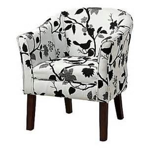 black and white armchair coaster accent seating fabric barrel accent chair black