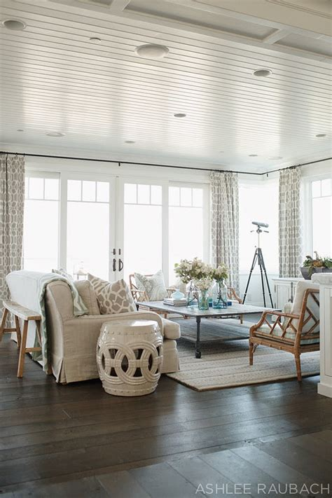 neutral coastal decor in the living room beach house with neutral color palette home bunch