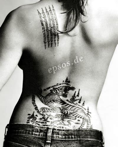 angelina jolie tiger tattoo tattoos epsos de