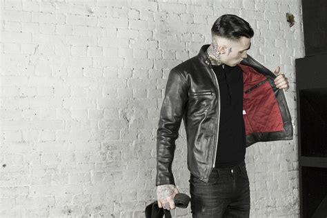 Edition Jaket Bikers Style leather cafe racer biker jacket icon by leather monkeys black lmuk lmuk co 911016