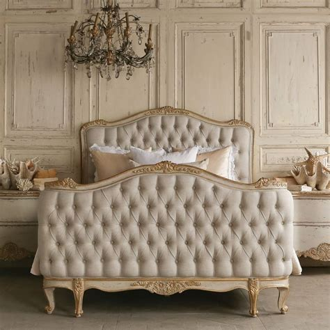 gold tufted headboard eloquence sophia upholstered tufted two tone gold bed