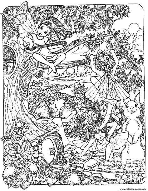 adult fantasy child elves coloring pages printable