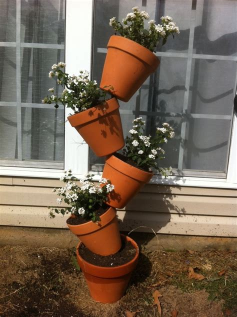 Stacking Pot Pot Susun 5 stacked flower pots it blooming