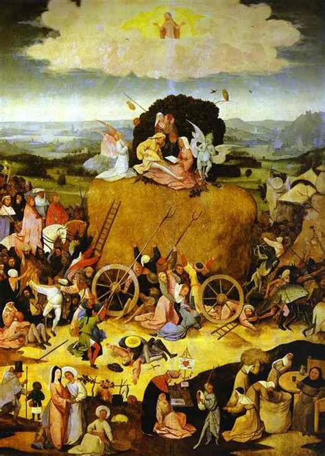 hieronymus bosch painter and 0300220146 haywain triptych haywain by hieronymus bosch artinthepicture com