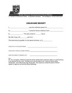 Child Care Tax Receipt Template 8 Daycare Tax Receipt Template Verification Letters Pdf