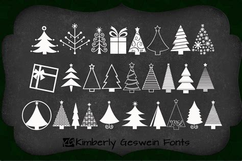 kg christmas trees symbol fonts on creative market