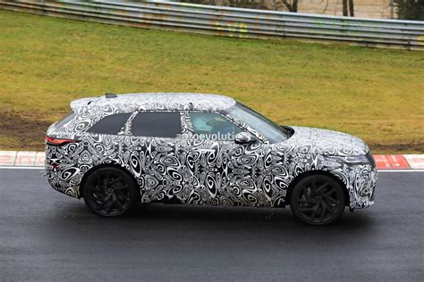 range rover velar svr spyshots 2019 range rover velar svr shows production face