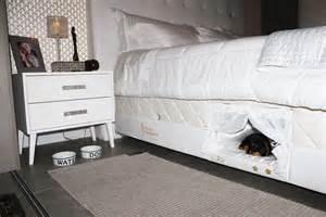 this bed has a tiny pet bed