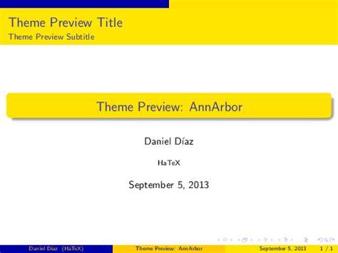 latex beamer themes ann arbor text latex packages beamer