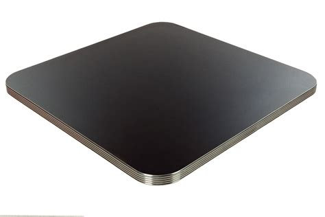 milled aluminum edge laminated table top osaer