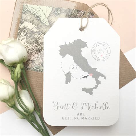 Save The Date Wedding by Location Wedding Abroad Save The Date Luggage Tag By Ditsy