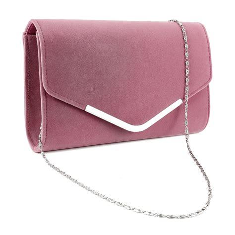 womens suede velvet envelope clutch bag shoulder