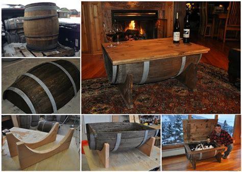 Wonderful Diy Whiskey Barrel Coffee Table How To Make A Wine Barrel Coffee Table