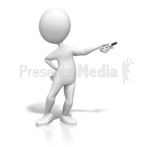 Stick Figure Presenting With Pen Education And School Great Clipart For Presentations Www Presenter Medi