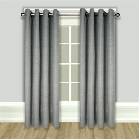 Lined Grommet Curtains Grasscloth Lined Grommet Top Curtain Panels