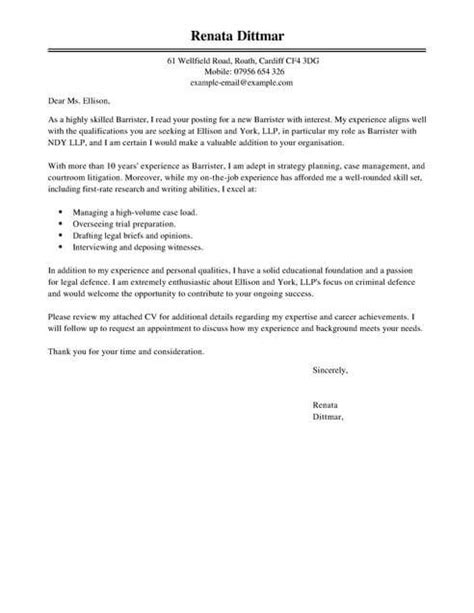 legal cover letter examples templates livecareer