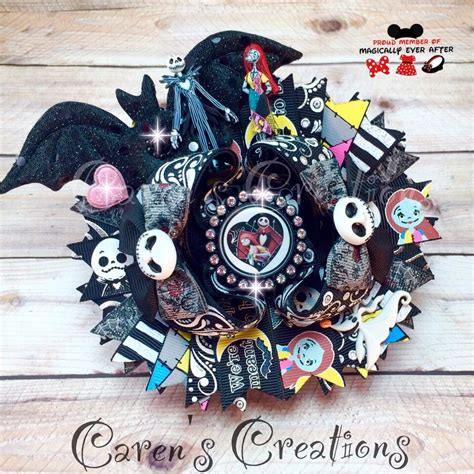 halloween themed hair accessories the nightmare before christmas themed hair bow jack