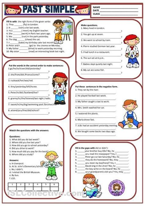 past simple worksheet free esl printable worksheets made