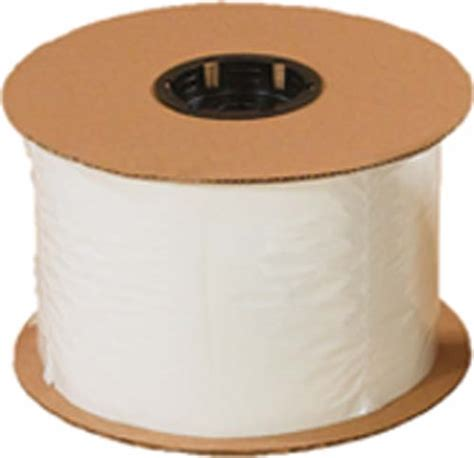 White Roll Bag 2 mil white back pre opened bags on roll