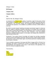 Real Estate Sales Cover Letter by Cover Letter Sle Real Estate Cover Letter Templates