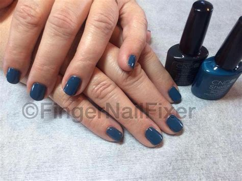 most popular shellac manicures cnd shellac blue rapture over asphalt nails pinterest