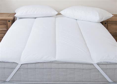 Thick Cotton Mattress Topper Cotton Blend Mattress Topper Reviver 1 5 Inchs Thick Luxury Hollowfibre Enhancer Ebay