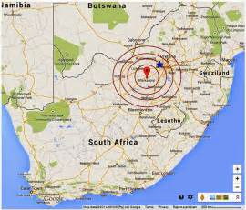 South Africa Roots N Shoots Earthquake Hits Central South Africa