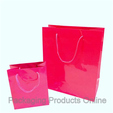 Paper Gift Bags - paper gift bags glossy fuchsia pink packaging products