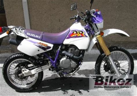 1996 Suzuki Dr350 For Sale 1996 Suzuki Dr 350 Se Specifications And Pictures