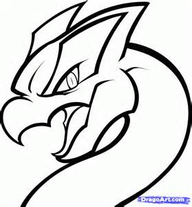 How To Draw A Dragon Lugia From Pokemon Step By  sketch template