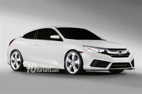 honda civic 2016 coupe 2016 honda civic coupe hatchback and sedan rendered