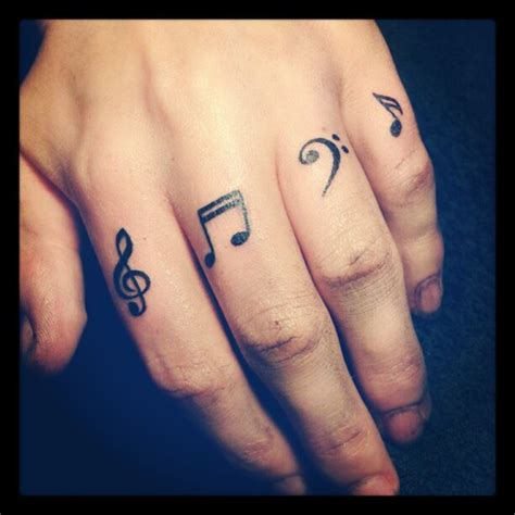 small music tattoos for men cool small on finger as well as small but