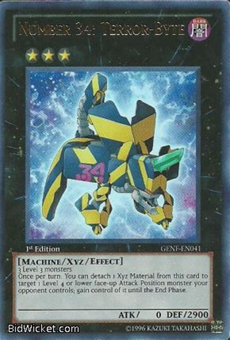 Kartu Yugioh Number 34 Terror Byte Secret trading cards miniatures booster boxes at strike zone