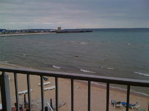 comfort inn lakeside mackinaw city view from 3rd floor balcony picture of comfort inn