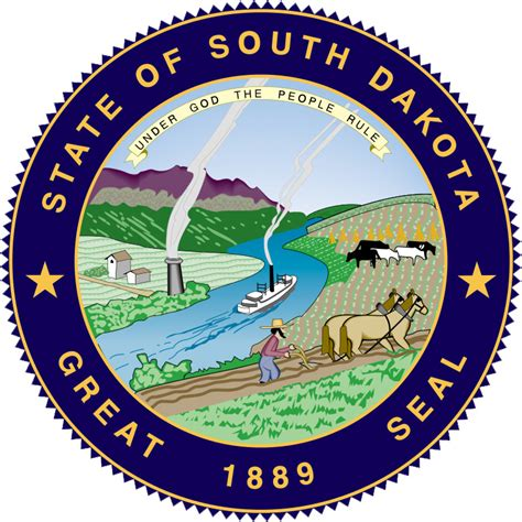 state pictures seal of south dakota state symbols usa