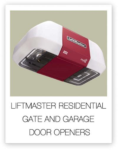 Liftmaster Residential Gate And Garage Door Openers By Pro Line Garage Door Opener